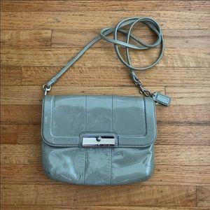 Coach Kristin patent leather crossbody bag green
